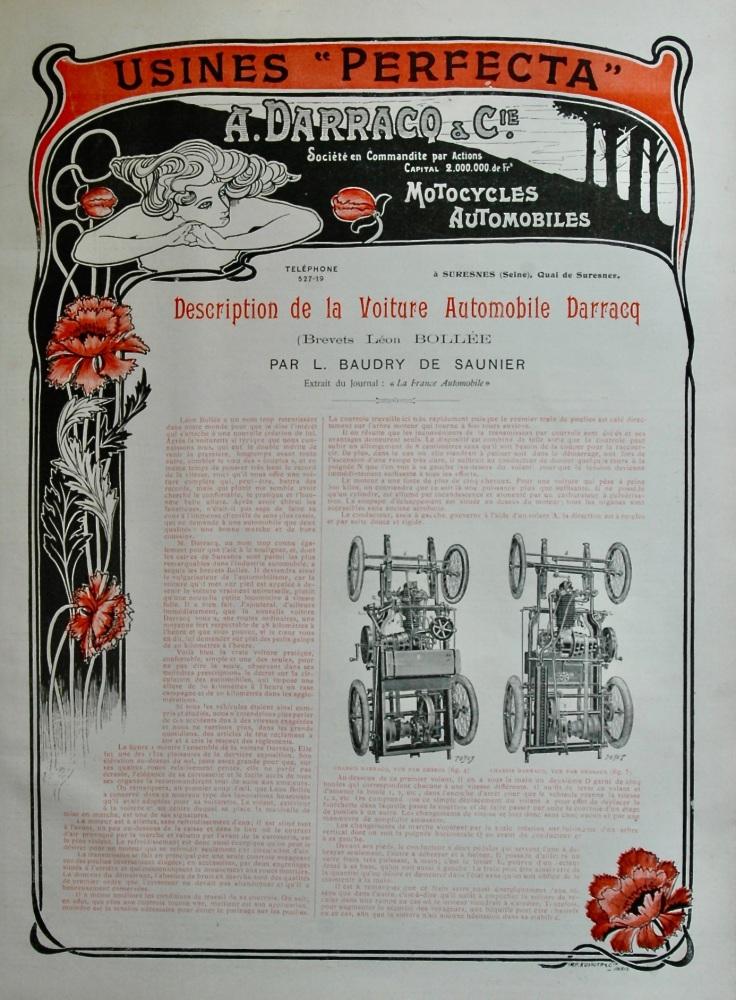 A Darracq & Cie.   (Motorcycles, Automobiles) 1899.