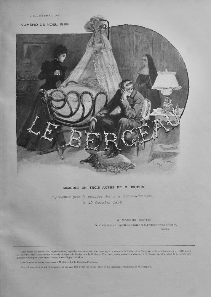 Le Berceau.  Comédie en Trois Actes de M. Brieux.  1898.