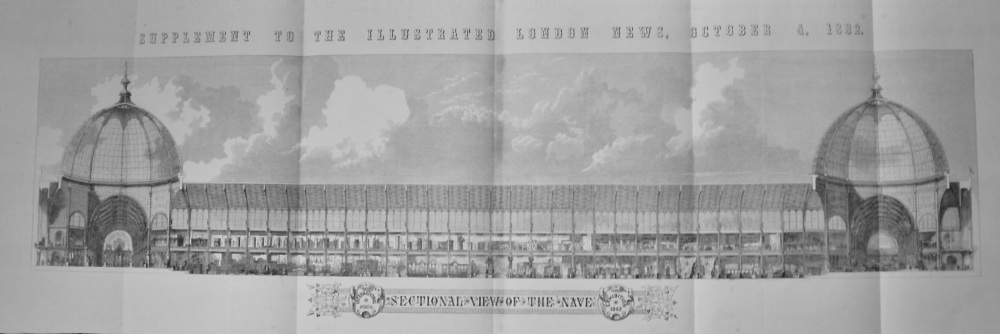 International Exhibition 1862 : Sectional View of the Nave.  (Large Foldout)