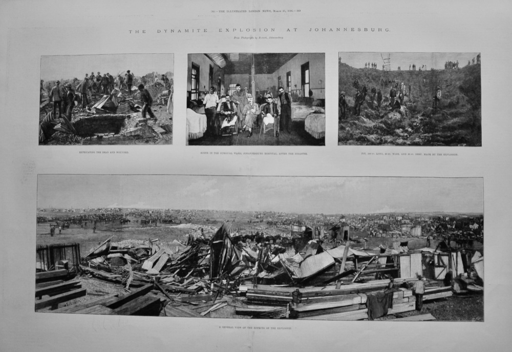 The Dynamite Explosion at Johannesburg.  1896.