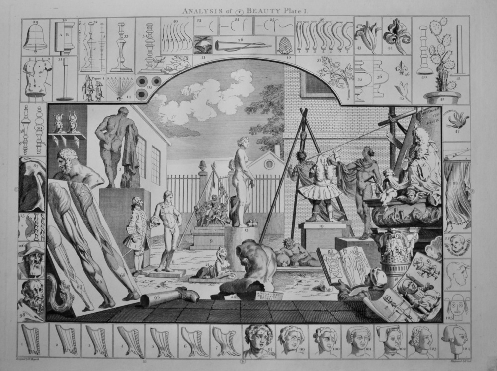 """Hogarth Restored"" : Analysis of Beauty Plate 1."