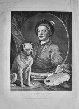 """""""Hogarth Restored.""""  Gulielmus Hogarth. 1802."""