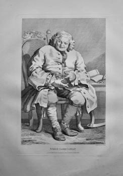 """Hogarth Restored,"" : Simon Lord Lovat.  1802."