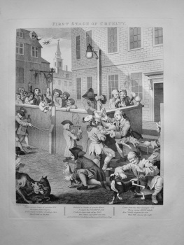 """Hogarth Restored"" : First Stage of Cruelty.  1802."
