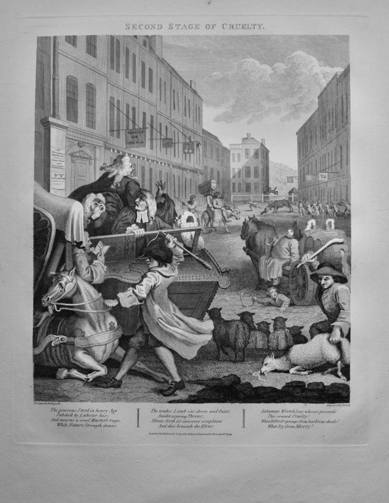 """Hogarth Restored"" :  Second Stage of Cruelty.  1892."