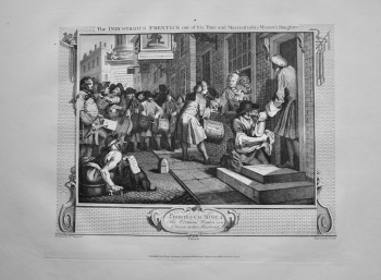 """""""Hogarth Restored,"""" : The Industrious Prentice out of his Time and Married to his Master's Daughter.  1802."""
