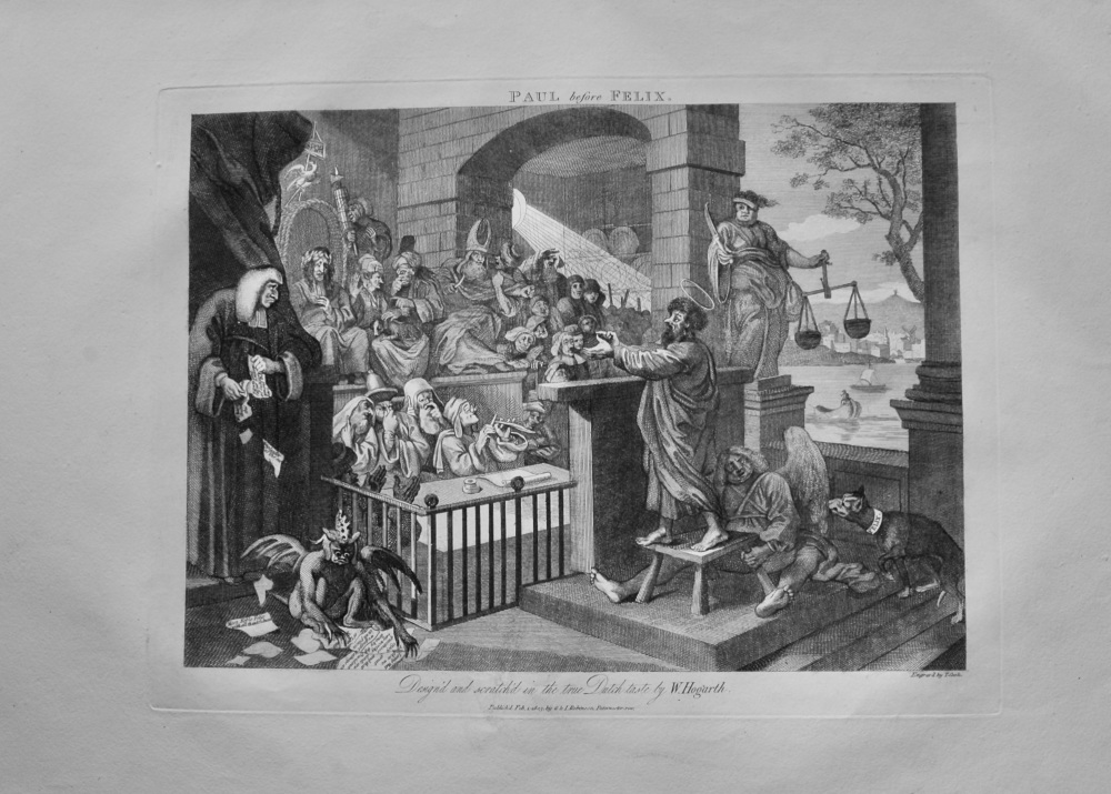 """Hogarth Restored""  : Paul before Felix.  1803"