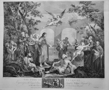 """Hogarth Restored. "" : The Pool of Bethesda. 1802."