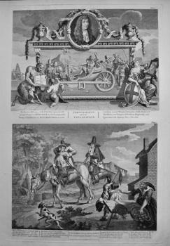 """Hogarth Restored,"" Hudibras. :  Frontispiece and its Explanation.  &  Sr. Hudibras.  1801."