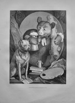"""""""Hogarth Restored,""""  : The Bruiser, Charles Churchill. 1800."""