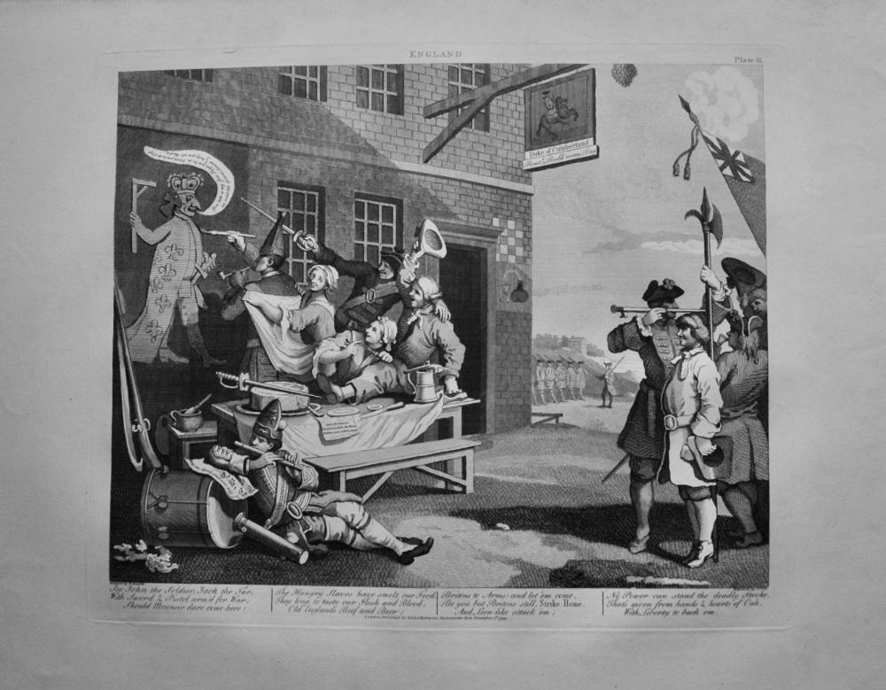 """Hogarth Restored"" :  (Plate II.) England."