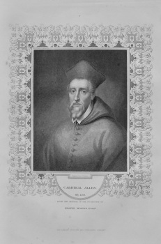 Cardinal Allen. OB. 1595.  from the original in the possession of Browne Mostyn Esq.