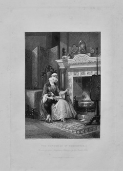 The Mother of Dr. Doddridge : Teaching him Scripture History by the Dutch Tiles. 1845c.