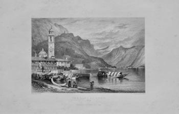 The Lake of Como, Italy.  1844.