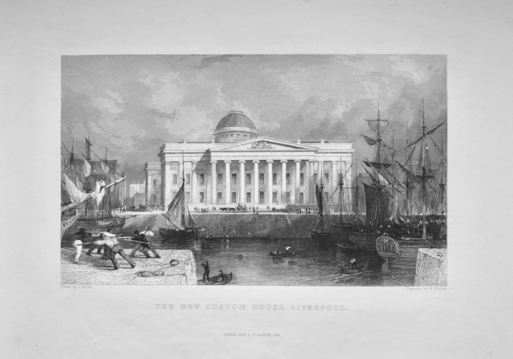 The New Custom House, Liverpool.  1845.