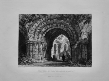 Chapter-House, Furness Abbey.  1845.