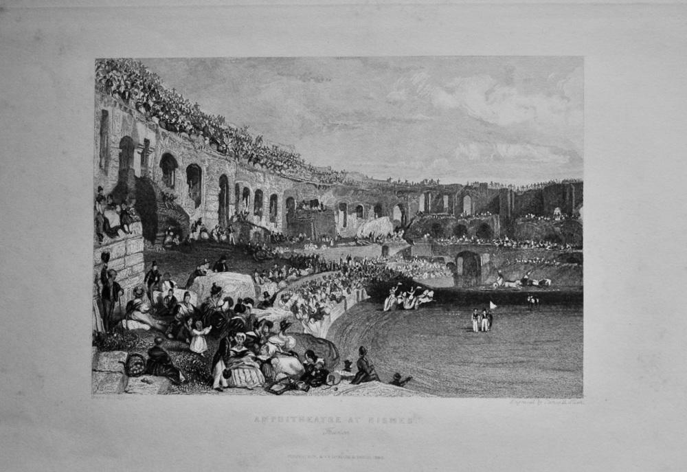 Amphitheatre at Nismes, France.  1845.