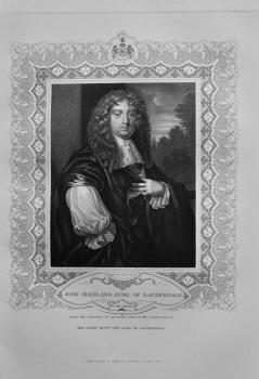 John Maitland, Duke of Lauderdale.  1850c.