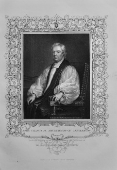 John Tillotson,  Archbishop of Canterbury.  1850c.