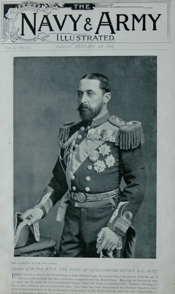 Admiral of the Fleet, H.R.H. The Duke of Saxe-Coburg Gotha, K.G., A.D.C.  1896.
