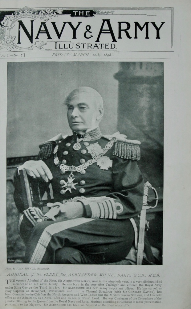 Admiral of the Fleet Sir Alexander Milne, Bart, G.C.B., K.C.B.