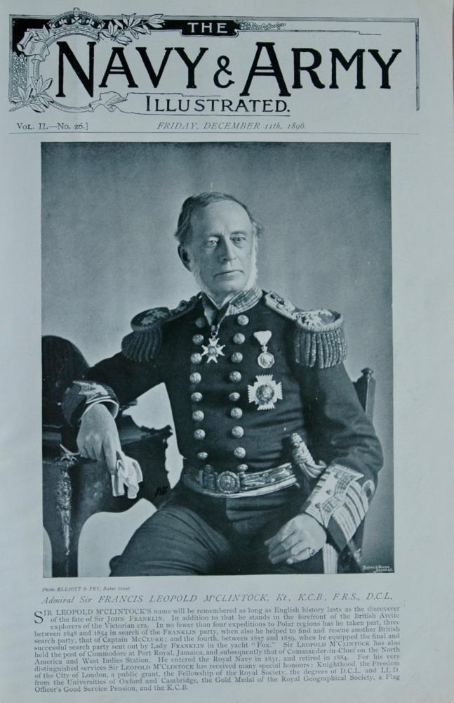 Admiral Sir Francis Leopold M'Clintock, Kt., K.C.B., F.R.S., D.C.L.   1896.