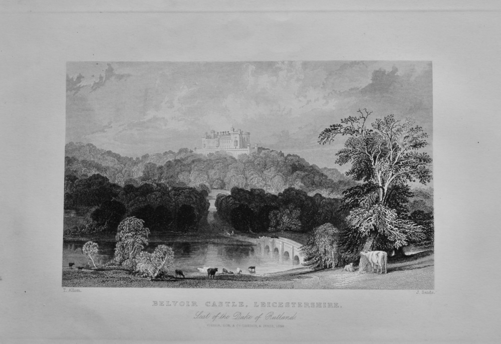 Belvoir Castle, Leicestershire. : Seat of the Duke of Rutland.  1850c.