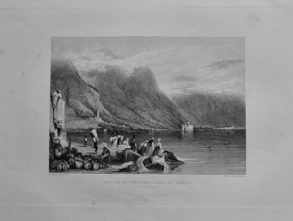 Castle of Chillon,- Lake of Geneva. 1850c.