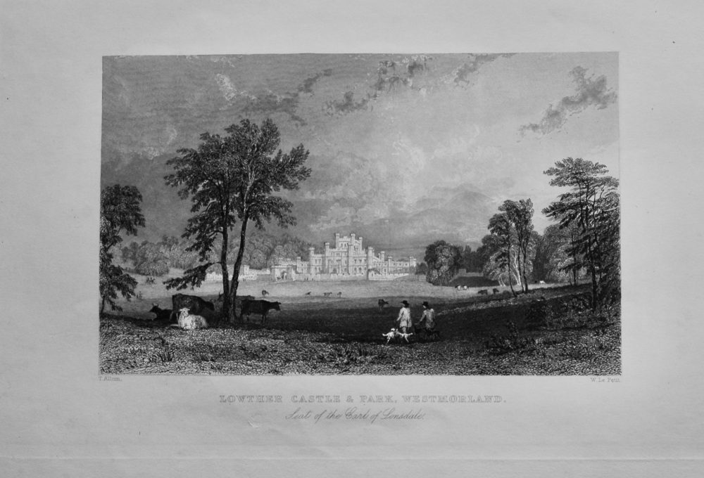 Lowther Castle & Park, Westmorland. : Seat of the Earl of Lonsdale.  1850c.