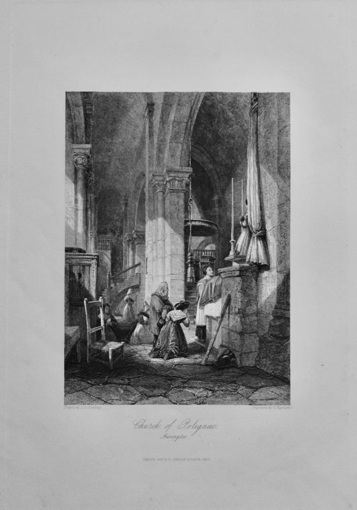 Church of Polignac,  Auvergne.  1850c.