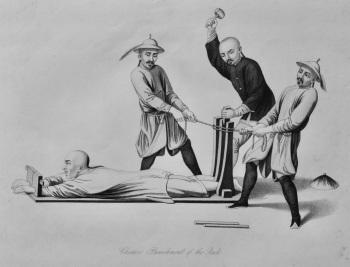Chinese Punishment of the Rack.  1850c.