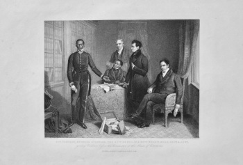 Jan Tzatzoe, Andries Stoffles, The Rev. Dr. Phillip & Rev. Messrs. Read  Sen. & June.    1850c.