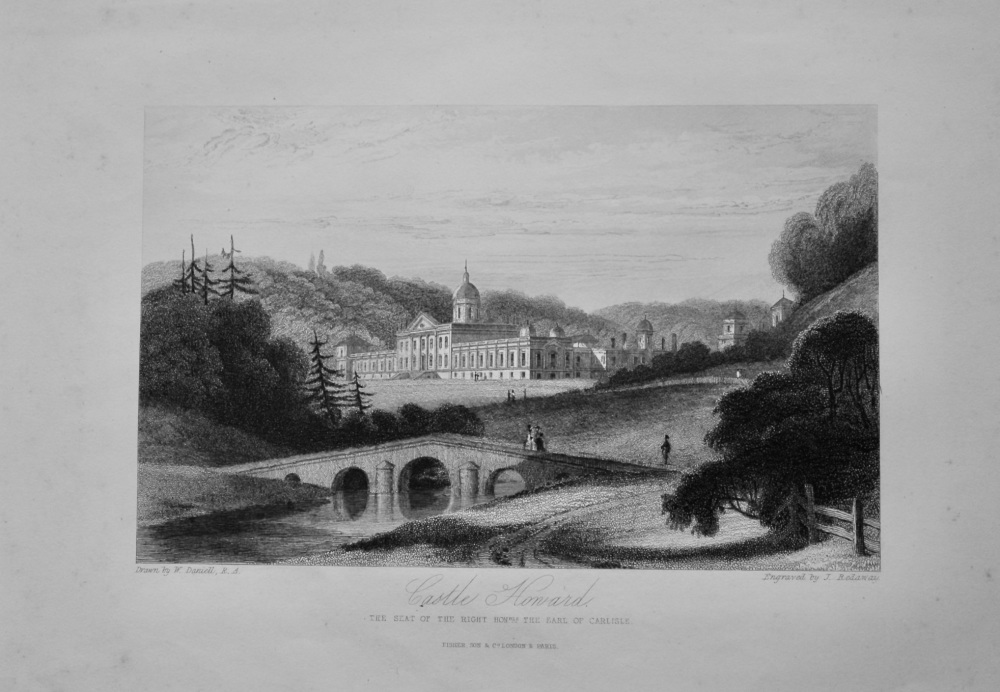 Castle Howard. : The Seat of the Right Hon. The Earl of Carlisle.   1850c.