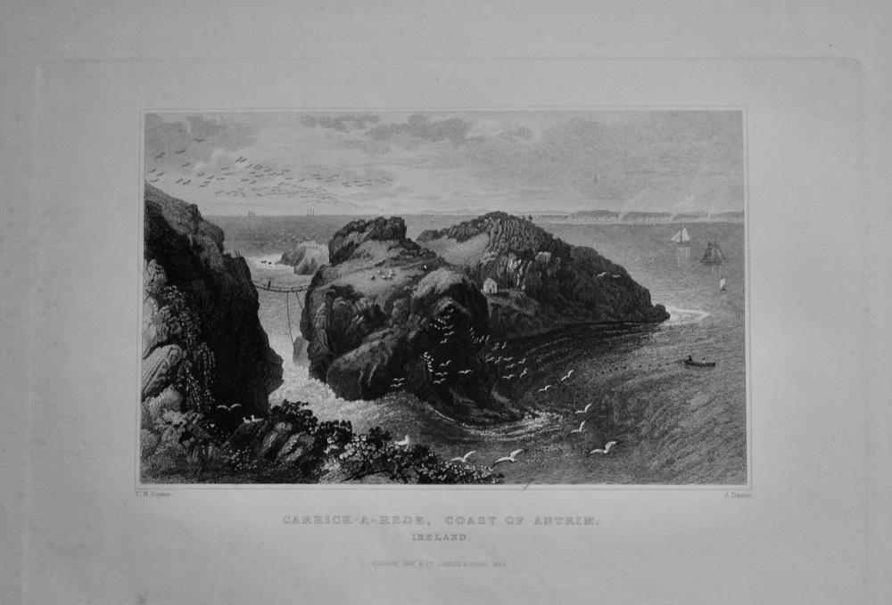 Carrick-A-Rede, Coast of Antrim. Ireland.  1850c.