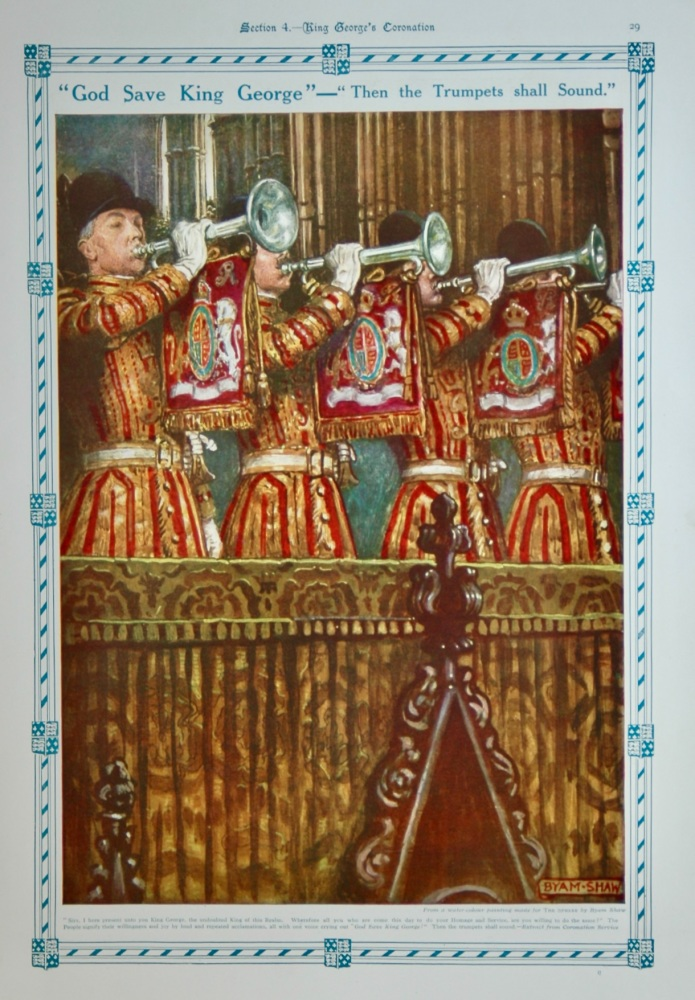 """""""God Save King George"""" - """"Then the Trumpets shall Sound."""" 1911."""
