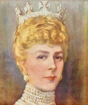 Her Majesty Queen Mary. (From a Painting by Christopher Clark, R.I.)  1911.