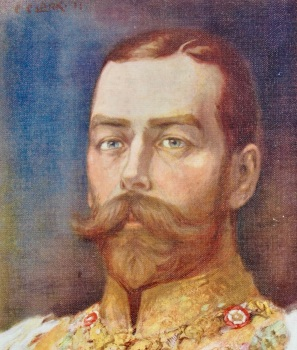 His Majesty King George V. (From a Painting by Christopher Clark, R.I.)  1911.
