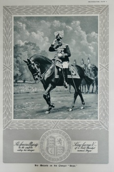 """His Majesty on His Charger """"Anzac."""""""