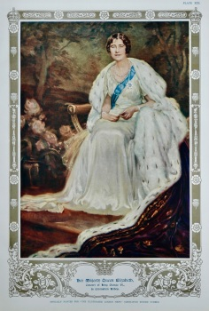 Her Majesty Queen Elizabeth, Consort of King George VI., in Coronation Robes. 1937.