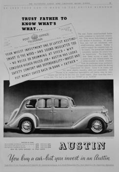 Austin Motor Co.  1937.