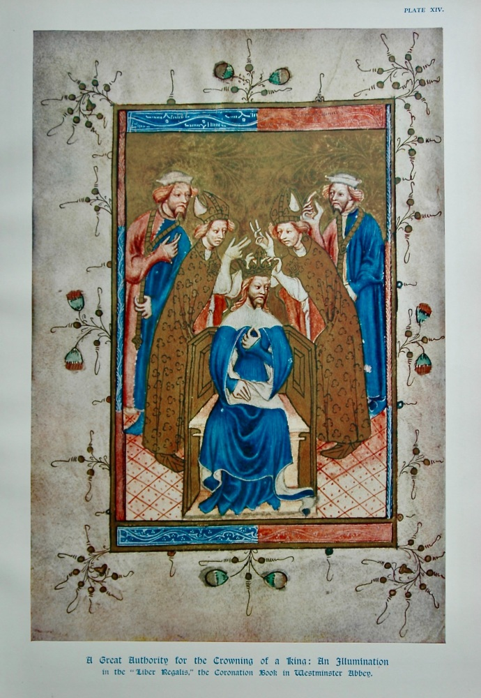 "A Great Authority for the Crowning of a King : An Illumination in the ""Liber Regalis,"" the Coronation Book in Westminster Abbey."