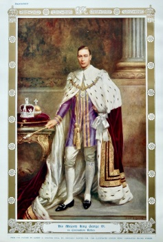 His Majesty King George VI. in Coronation Robes.  1937.