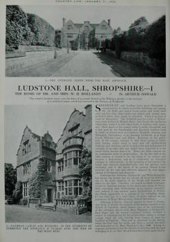 Country Life - Ludstone Hall, Shropshire