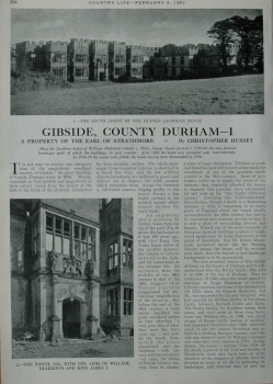 Country Life - Gibside, County Durham