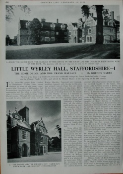 Country Life - Little Wyrley Hall, Staffordshire