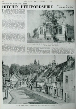 Country Life - Hitchin, Herts 1952