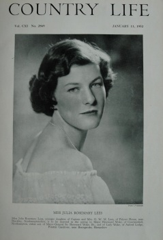 Country Life - Miss Julia Rosemary Lees