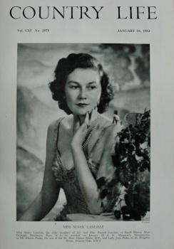 Country Life - Miss Susan Landale