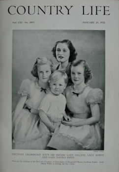 Country Life - Viscount Crowhurst with his sisters