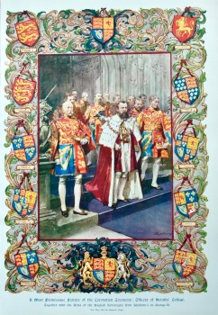 A Most Picturesque feature of the Coronation Ceremony : Officers of Heralds' College. 1911.